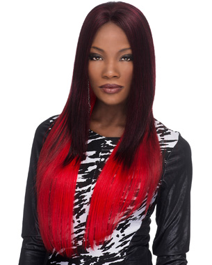 MILAN is a 28 inch super long style hair with yaki texture. It is featured with Deeep lace front which will enhance the natural look of yours when you wear the wig. Natural baby hair that looks like your own hair in the lace front makes enhances the look much more natural. Since the hair is really long, you can make a lot of creative styles by straightening, curling, braiding, and etc. When curled, its high heat resistant Kanekalon New Futura fiber not only curls well, but also keeps the curl longer to keep the hair look beautiful.